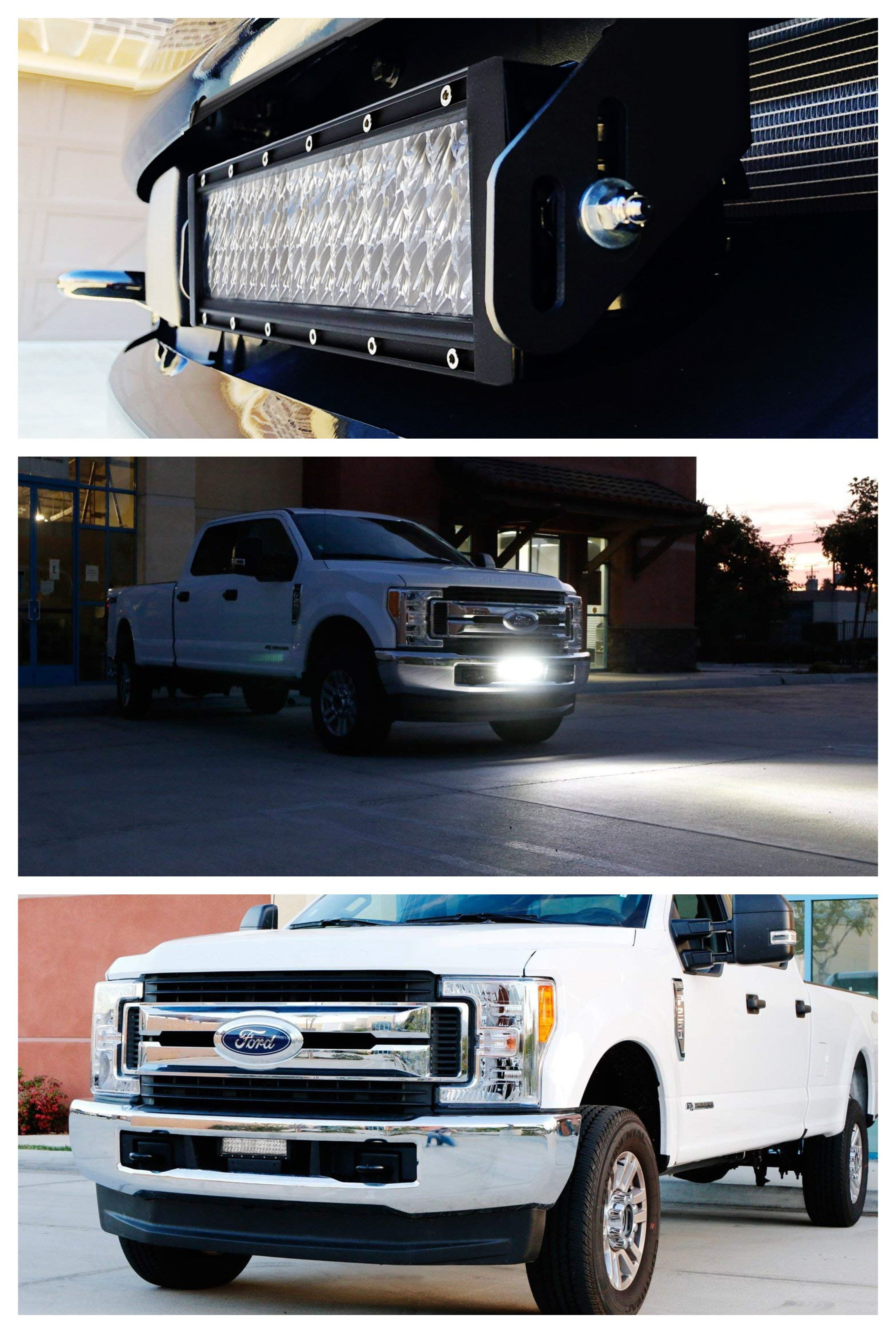 Lower Grille Mount 12 Led Light Bar Kit For 2017 Up Ford F250 F350 F450 1 High Power Led Lightbar Bumper Mounting Brackets Wiring Switch Led Light Bars F250 Ford F250