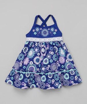 Purple Floral Babydoll Dress - Infant, Toddler & Girls by Young Hearts #zulily #zulilyfinds
