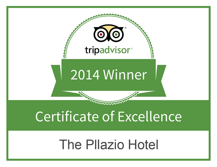 The Pllazio Hotel is humbled and proud to be awarded a certificate of excellence by TripAdvisor!  We thank our reviewers for all the love and support they have shared with us...