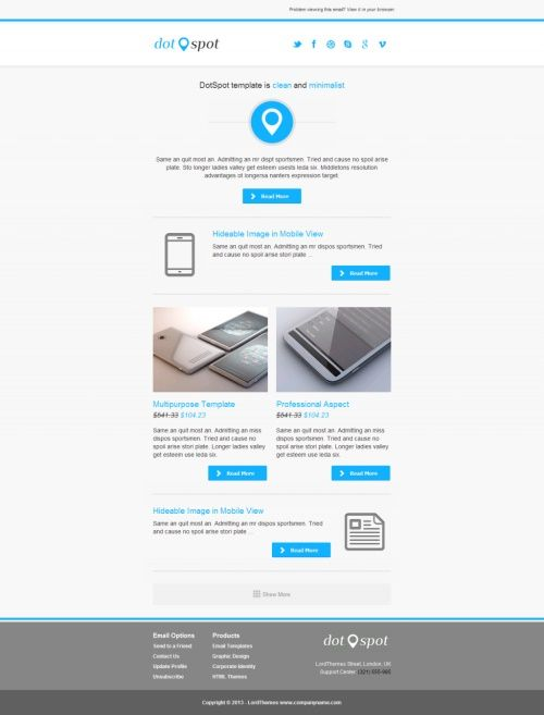 40 best html email newsletter templates email marketing 40 best html email newsletter templates spiritdancerdesigns Images