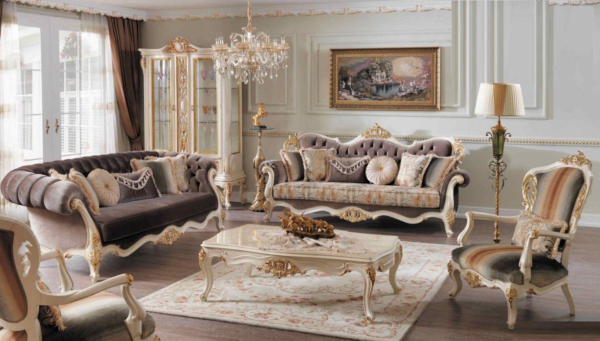 Luks Gusta Klasik Koltuk Takimi Luks Oturma Odalari Mobilya Oturma Odasi Takimlari