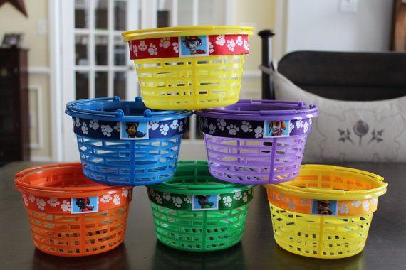 Paw patrol DIY: great idea for favor baskets. Dollar Tree ...