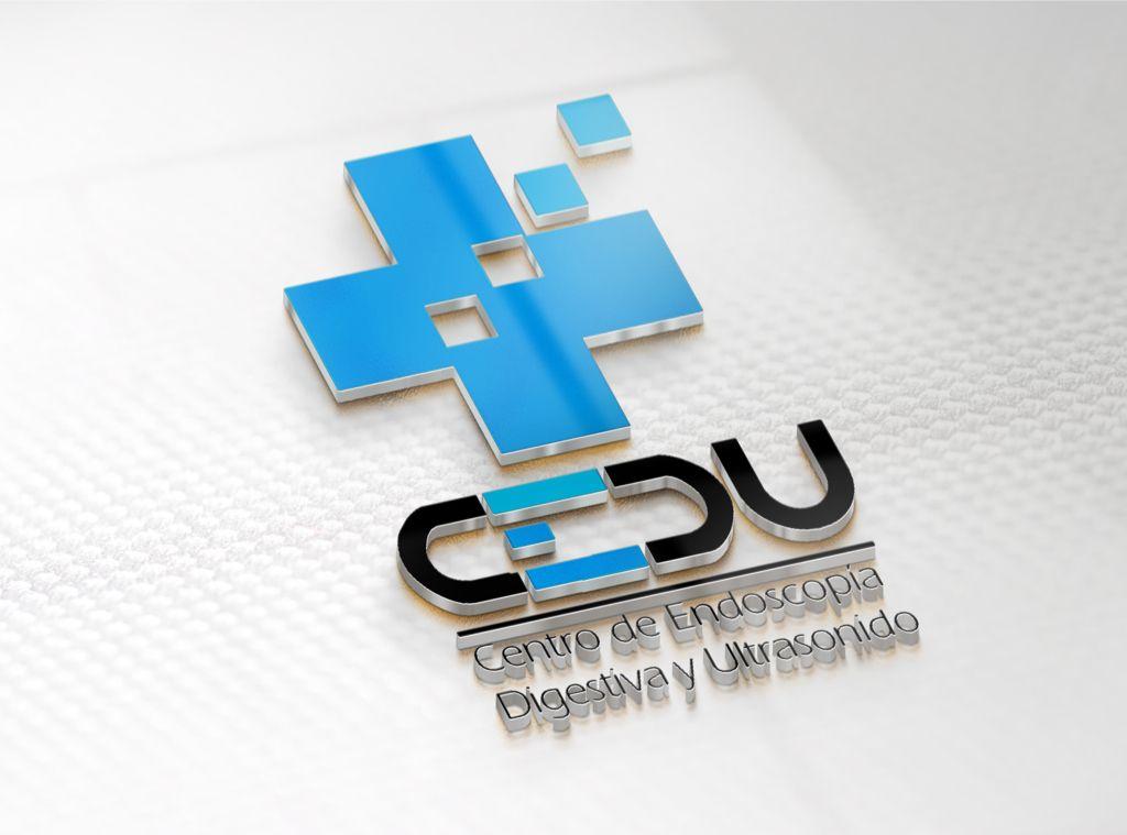 logotipo para centro de endoscopia digestiva CEDU hecho por la agencia de publicidad  marketing diseño gráfico y paginas web en veracruz, link diseño e imagen
