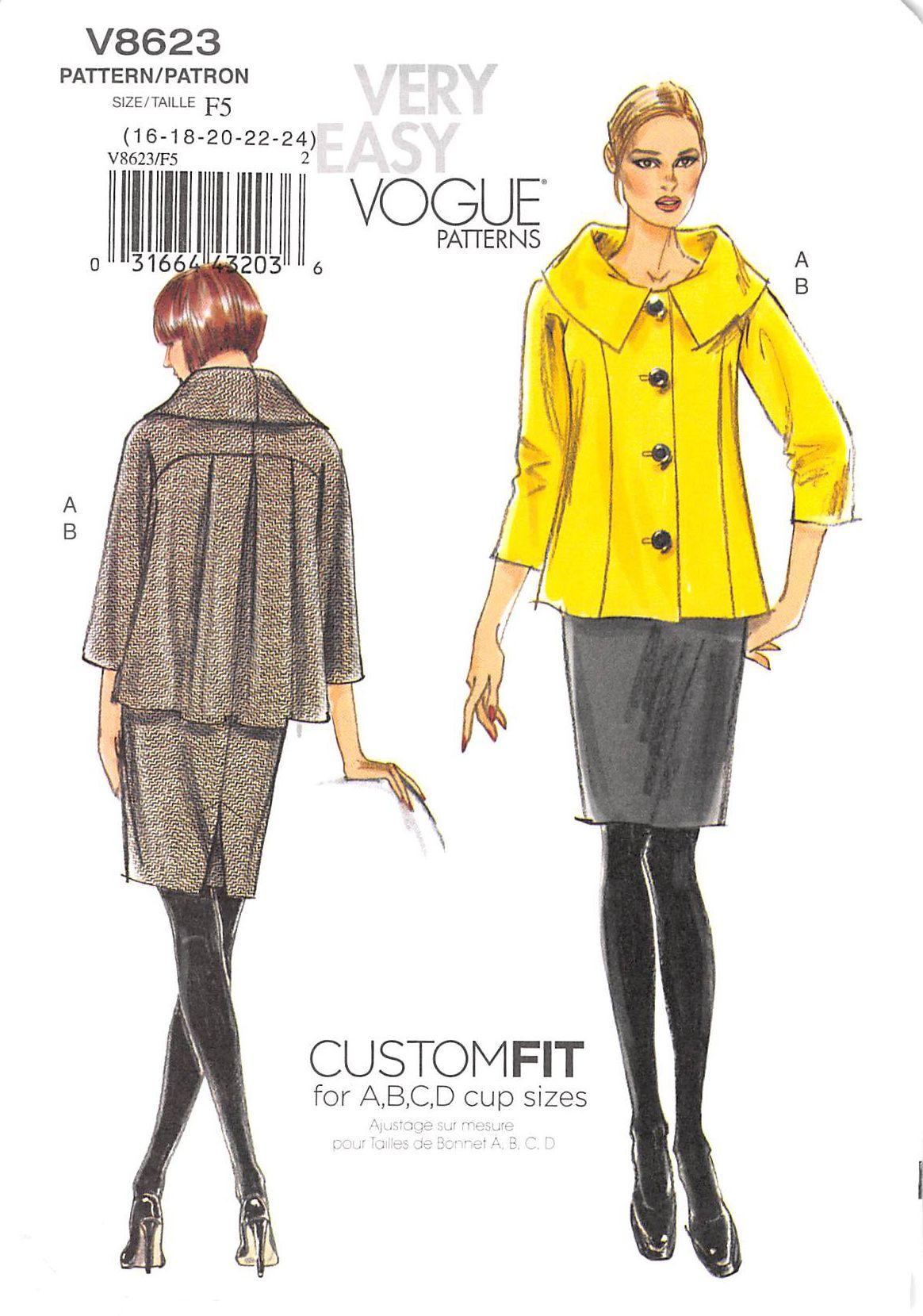 Vogue 8623 #sewingpatterns | Chaqueta mujer | Pinterest | Chaquetas ...