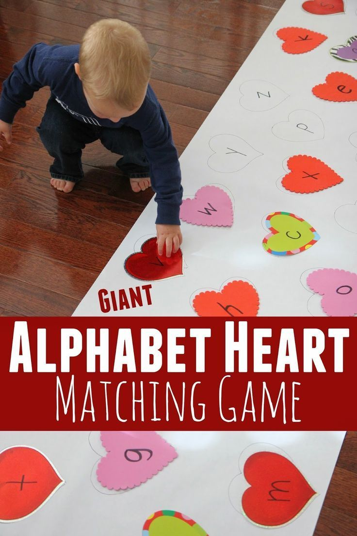 Giant Alphabet Heart Matching Game  Gaming February And Activities