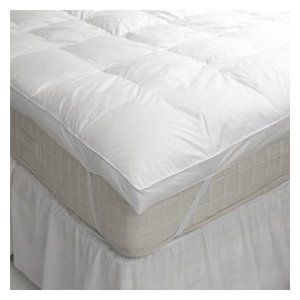 King Size Goose Feather And Down Mattress Topper Feather Bed Mattress Mattress Protector Mattress Topper