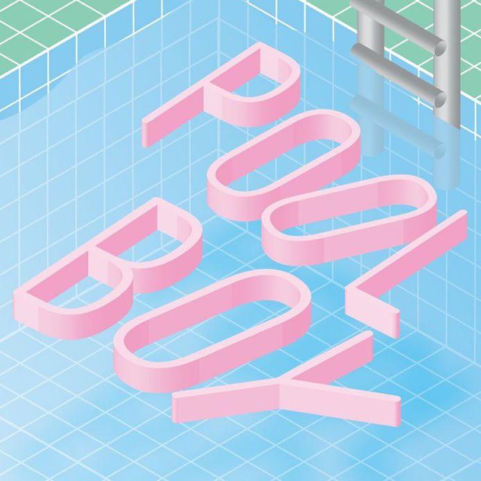 pool boy typographie