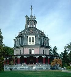 Victorian exotic house.  Exotic houses enjoyed a certain popularity throughout most of the Victorian period.  There was always the occasional eccentric willing to build something that looked like an Arabian palace or an Egyptian temple.