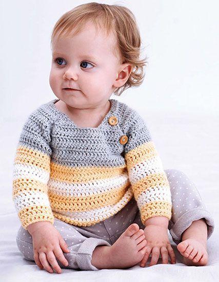 Baby Pullover Crochet Pattern Patrones Pinterest Pullover