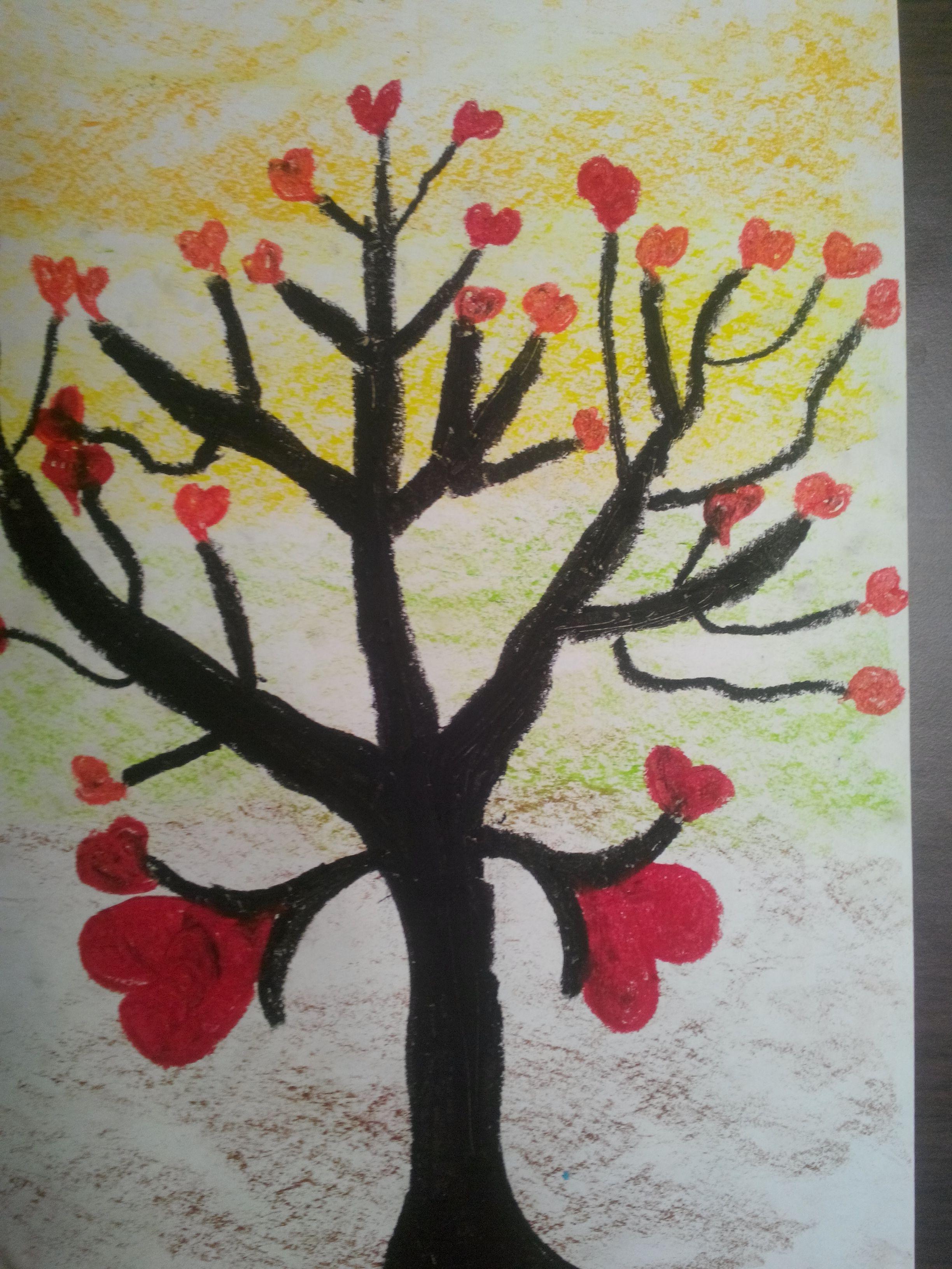 Ağaç Dalı Resmi Boyama