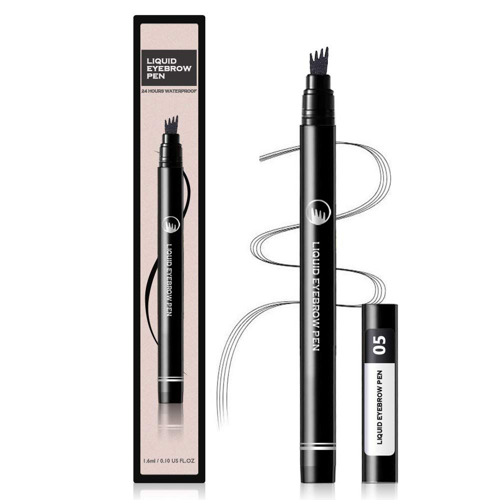 Liquid eyebrow pencil tattoo eyebrow pen with four tips