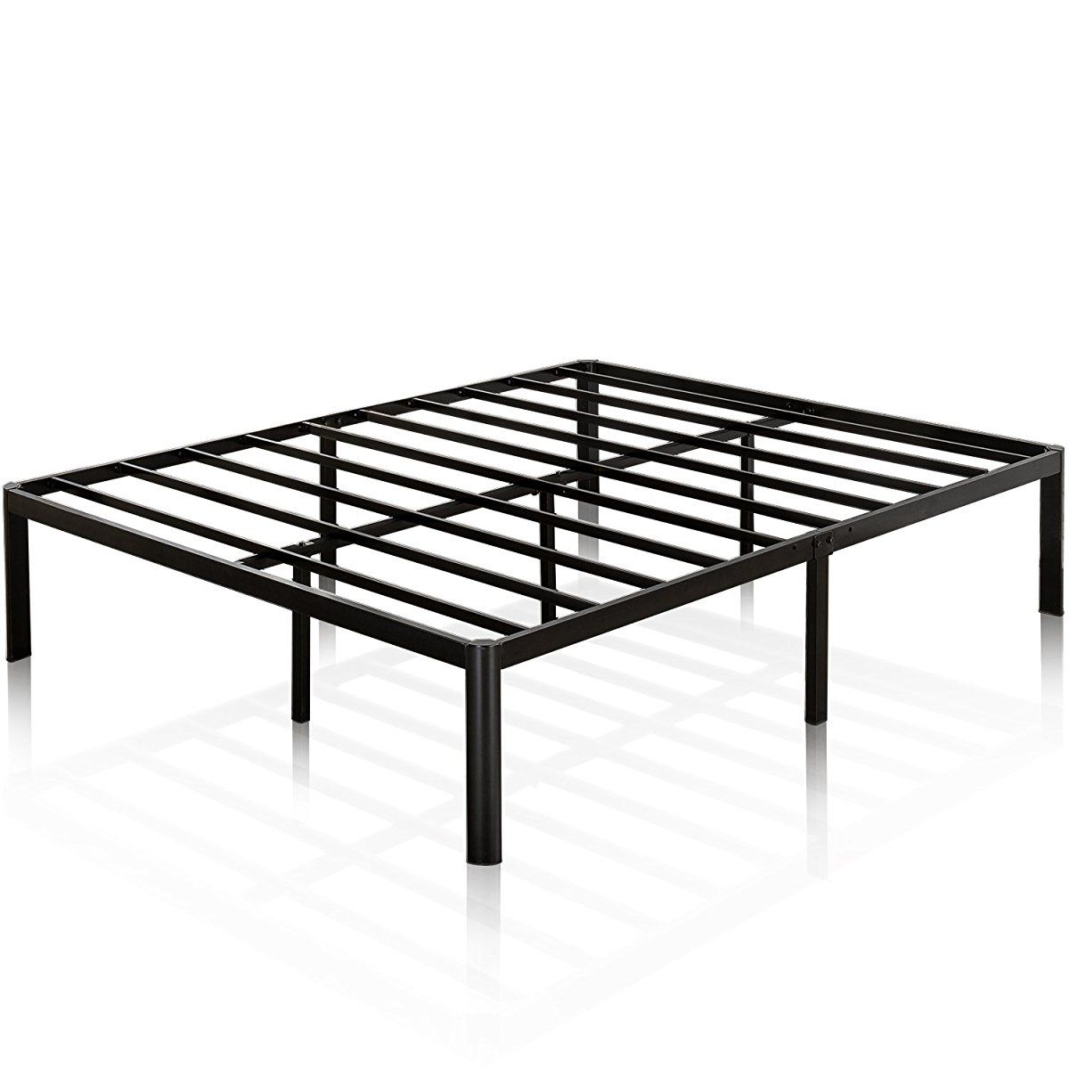 Zinus 16 Inch Metal Platform Bed Frame With Steel Slat Support Mattress Foundation Queen Metal Platform Bed Platform Bed Frame Bed Frame Mattress