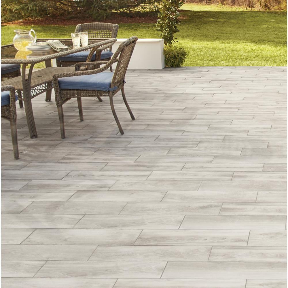 Lifeproof Shadow Wood 6 In X 24 In Porcelain Floor And Wall Tile 14 55 Sq Ft Case Lp33624hd1pr T In 2020 Outdoor Patio Decor Outdoor Remodel Patio Flooring