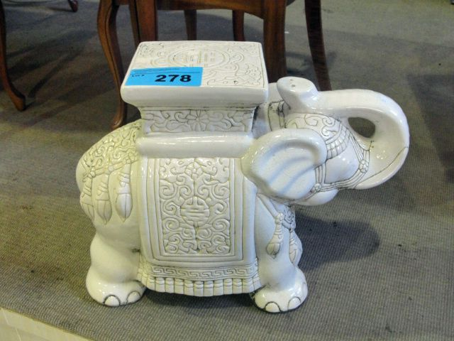 Ceramic White Elephant Plant Stand Creatures Pinterest