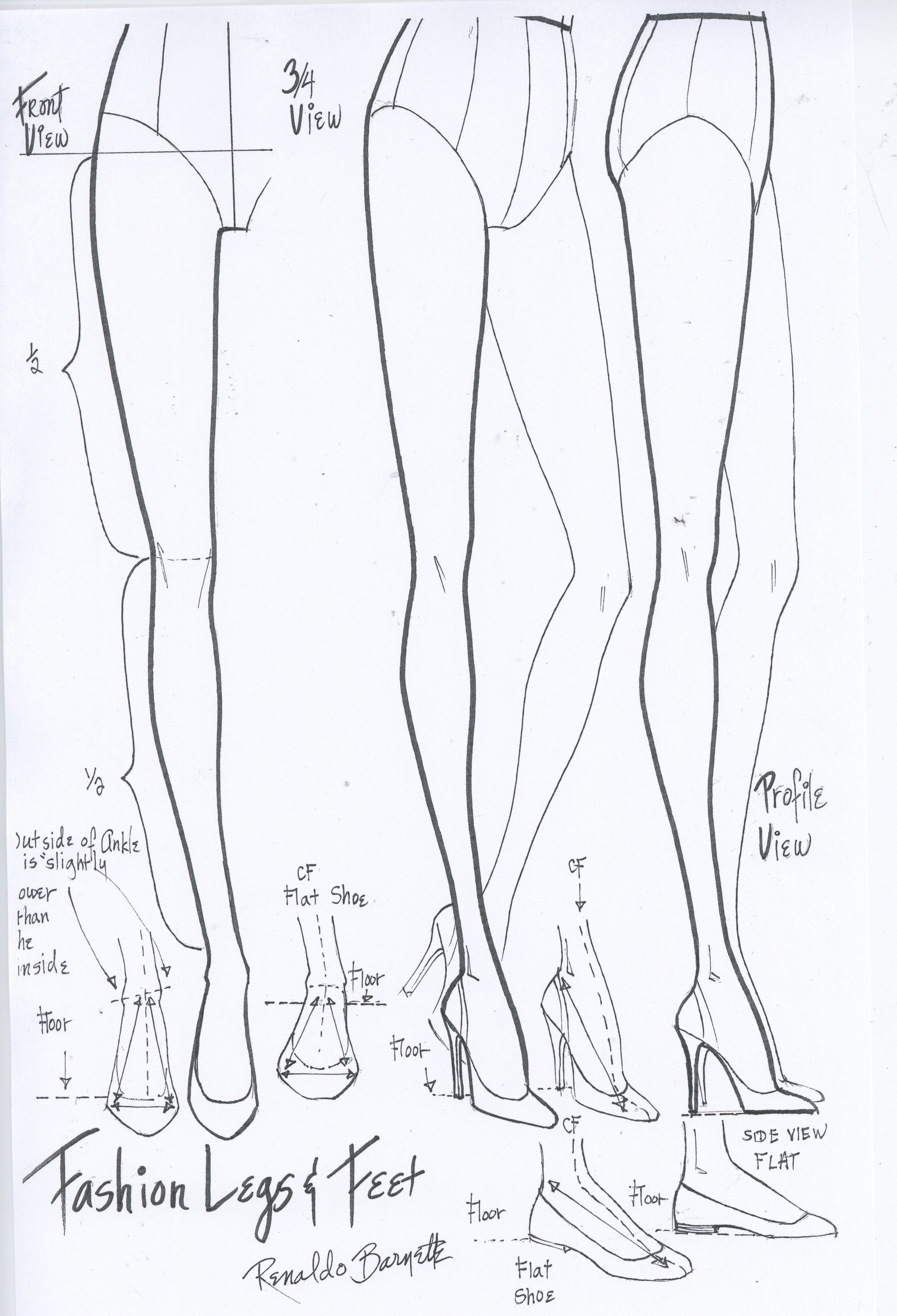 Fashion Legs And Feet Worksheet I Drew For My Students At