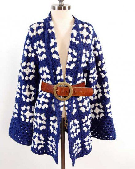 Could I rock this?? Granny Square Coat Crochet Pattern - Click Image to Close