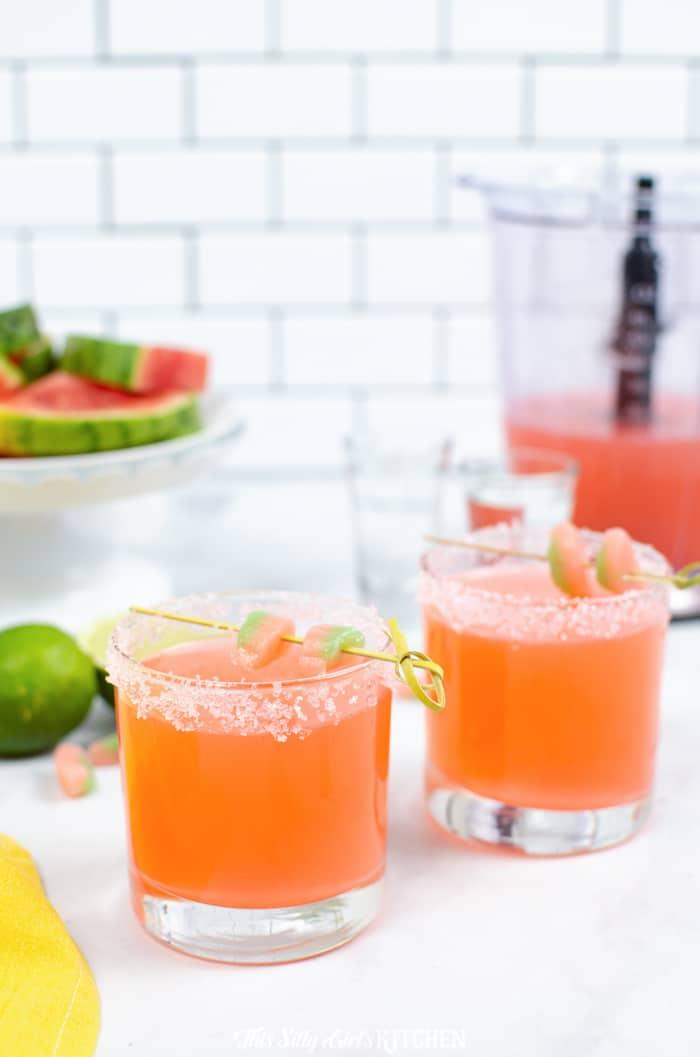 Vodka Sour Watermelon Slushies This Silly Girl S Kitchen Recipe Mixed Drinks Recipes Slushies Vodka Sour