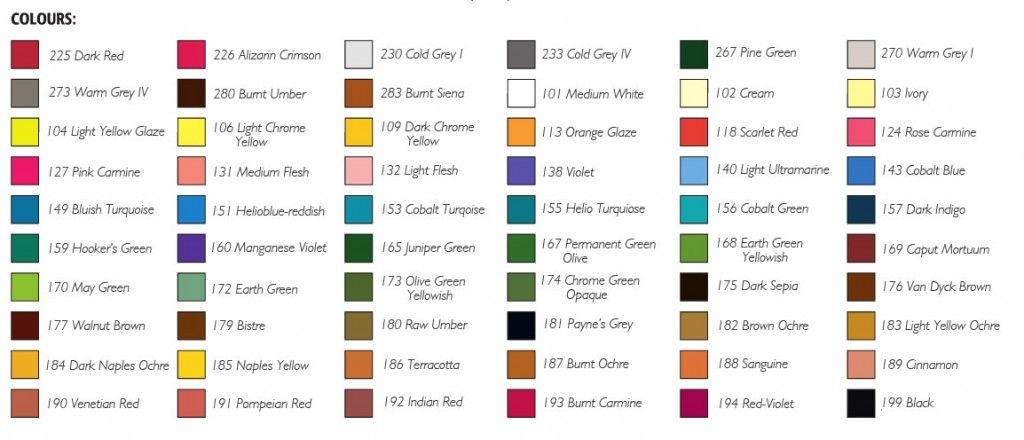 New Faber Castell Colour Chart Pastel Pencils Faber Castell Color Chart