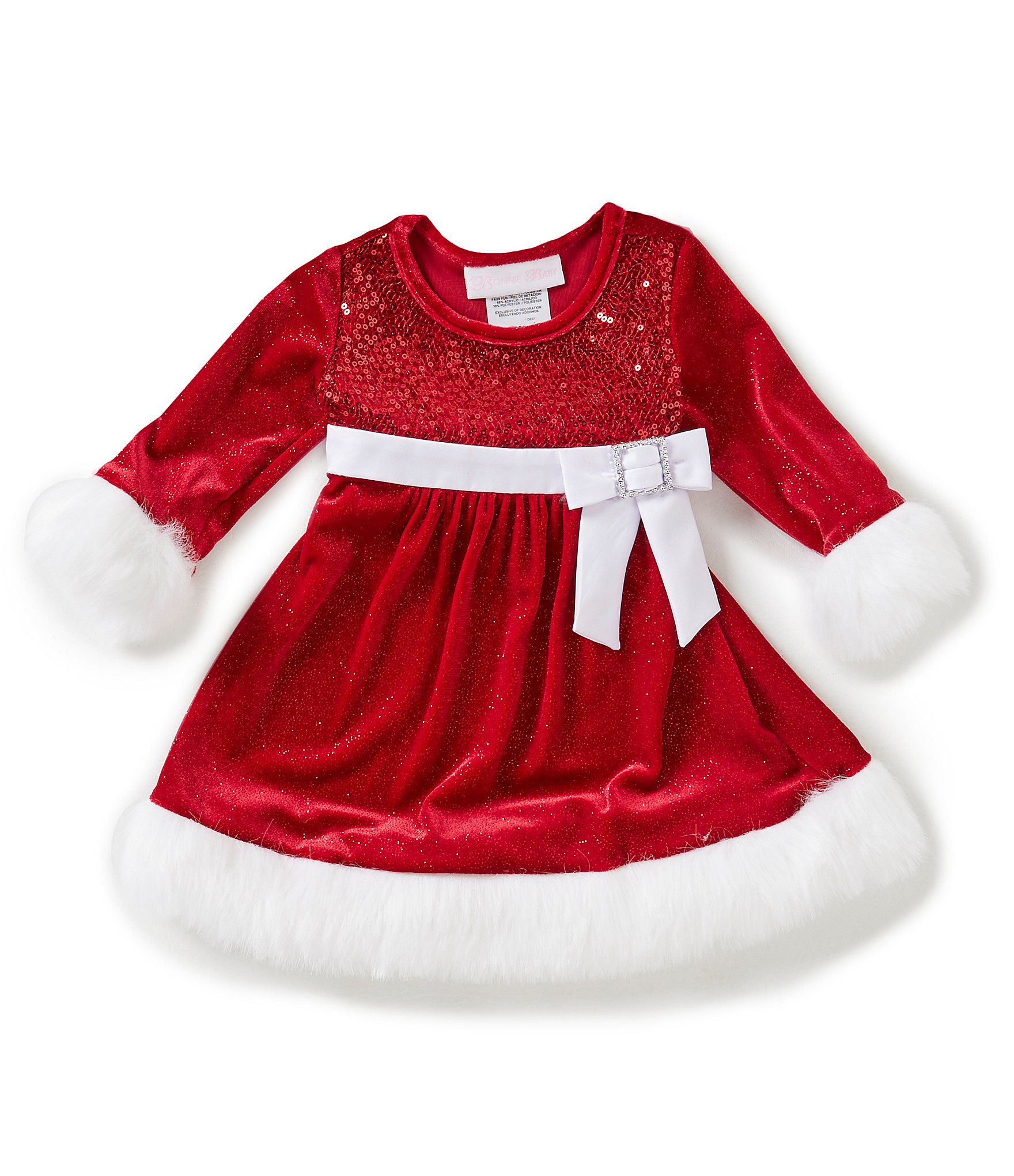 Shop for Bonnie Baby Baby Girls Newborn 24 Months Santa Sparkle