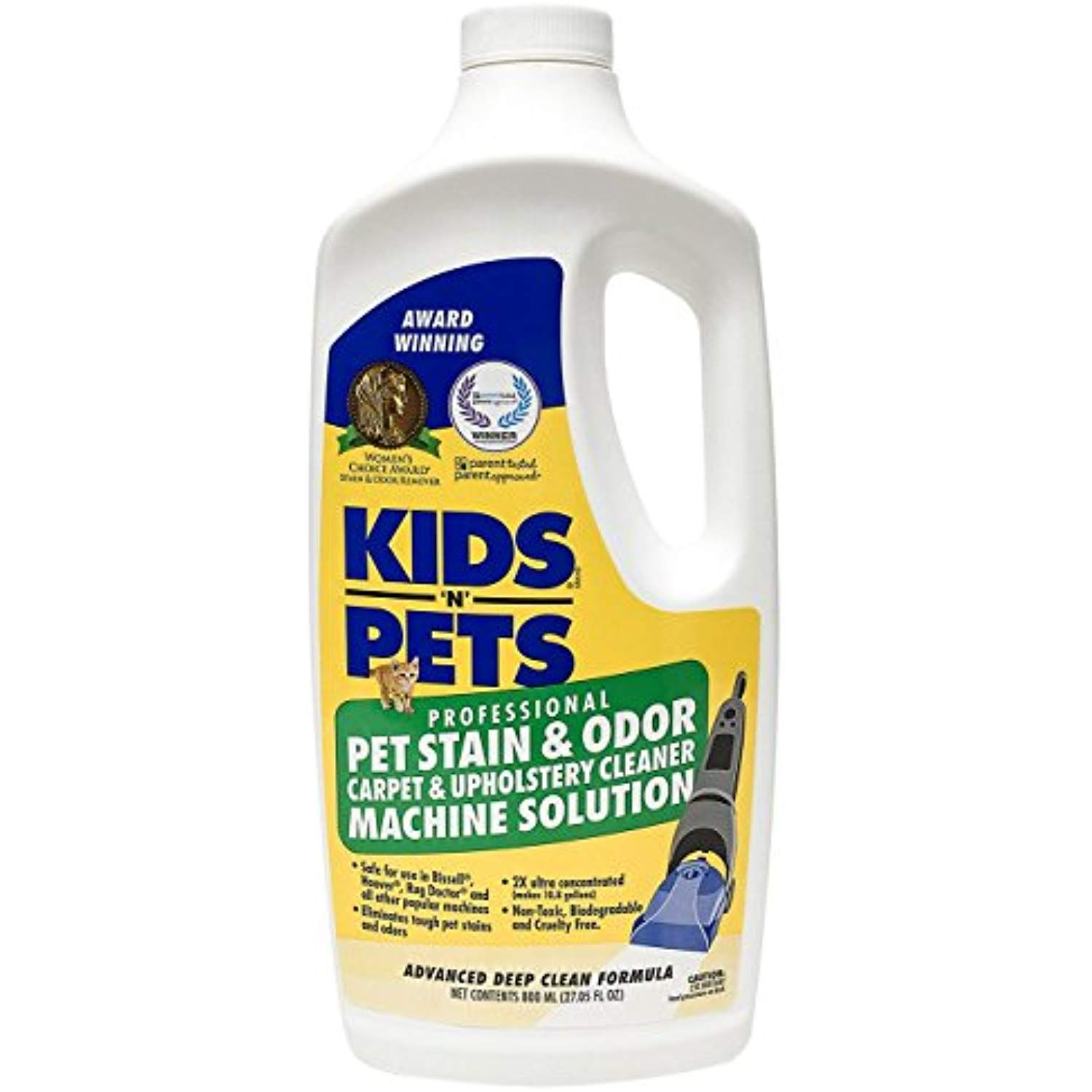 Kids N Pets Pet Stain And Odor Carpet And Upholstery Cleaner Machine Solution A 27 05 Oz 80 How To Clean Carpet Carpet And Upholstery Cleaner Pet Stains