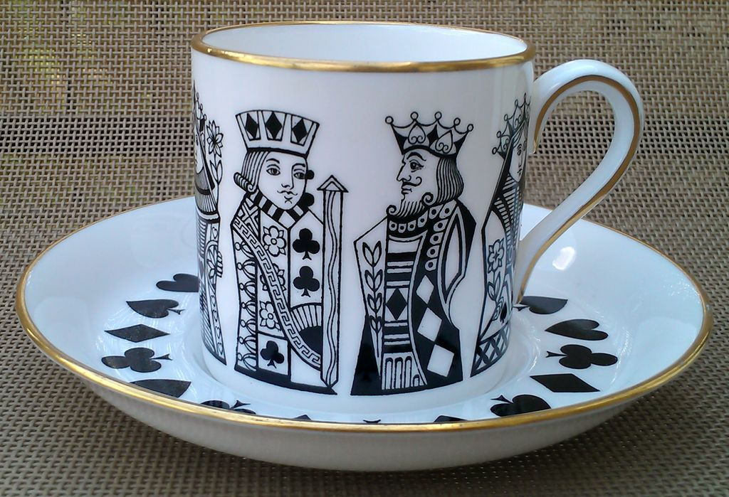 Spode China Demitasse Cup and Saucer Pattern F1210