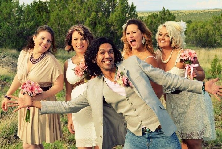 Man Of Honor With Bridesmaids Bridesman Nontraditional Wedding Wedding
