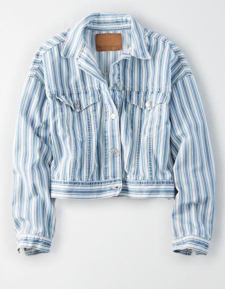 AEO Denim Railroad Jacket i 2019 | Products | Cotton, Blue