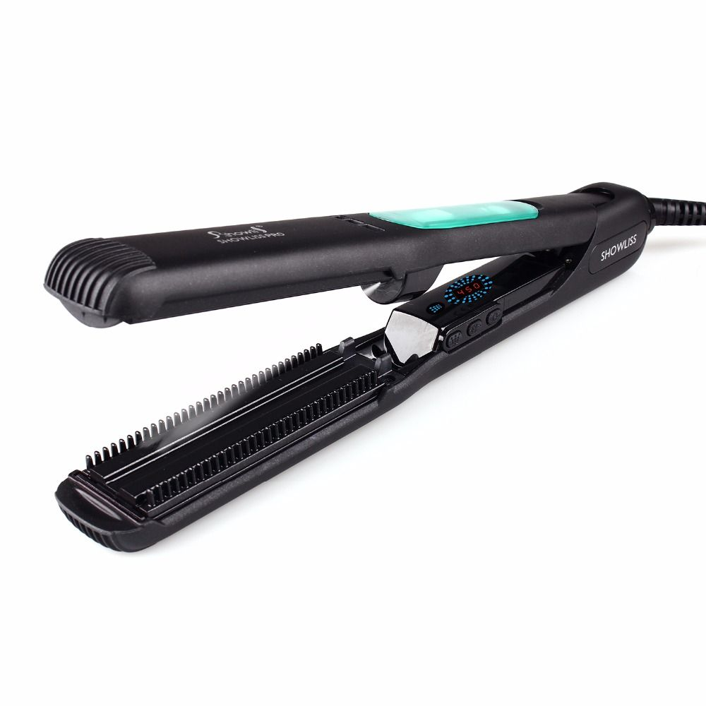 Salon equipment 1.5 Inch Professional LCD Ionic Hair Straightener ...