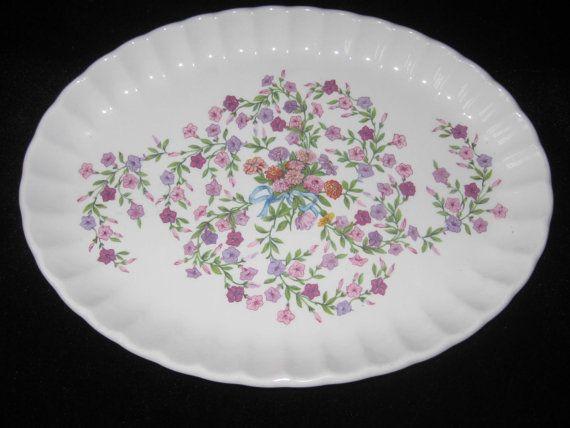 SALE 1930s RARE Design Red Floral Plate Scalloped Edge W S George Bolero Replacement China