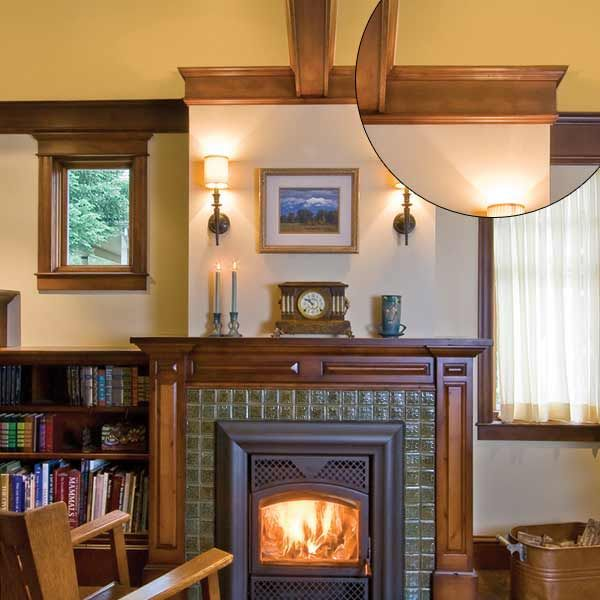 Simple Trim With A Shapely Mantel Home Fireplace Craftsman Fireplace Craftsman Interior