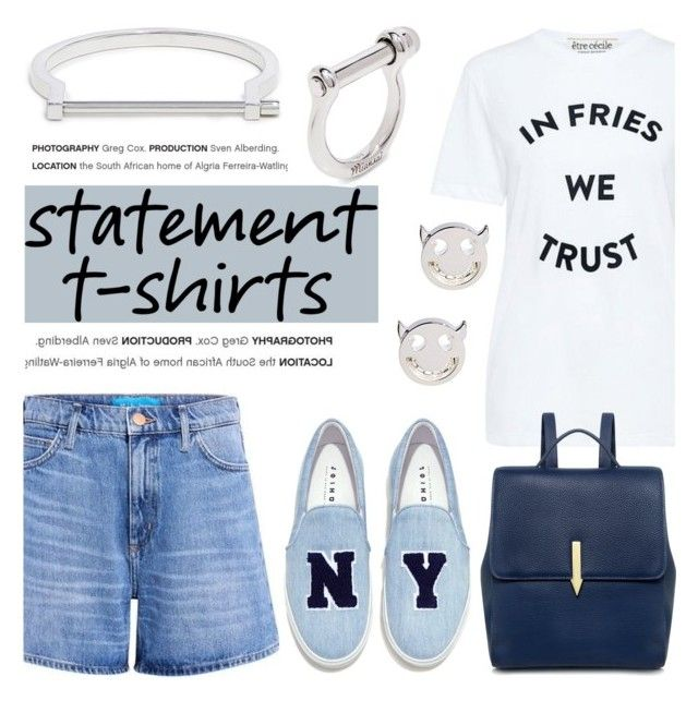 """""""Say What: Statement T-Shirts"""" by ifchic ❤ liked on Polyvore featuring Joshua's, Karen Walker, MIANSAI, Ruifier, contestentry, statementtshirt and ifchic"""