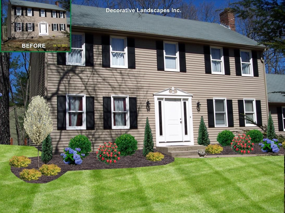 Front Yard Landscape Design Ma With Images Front House