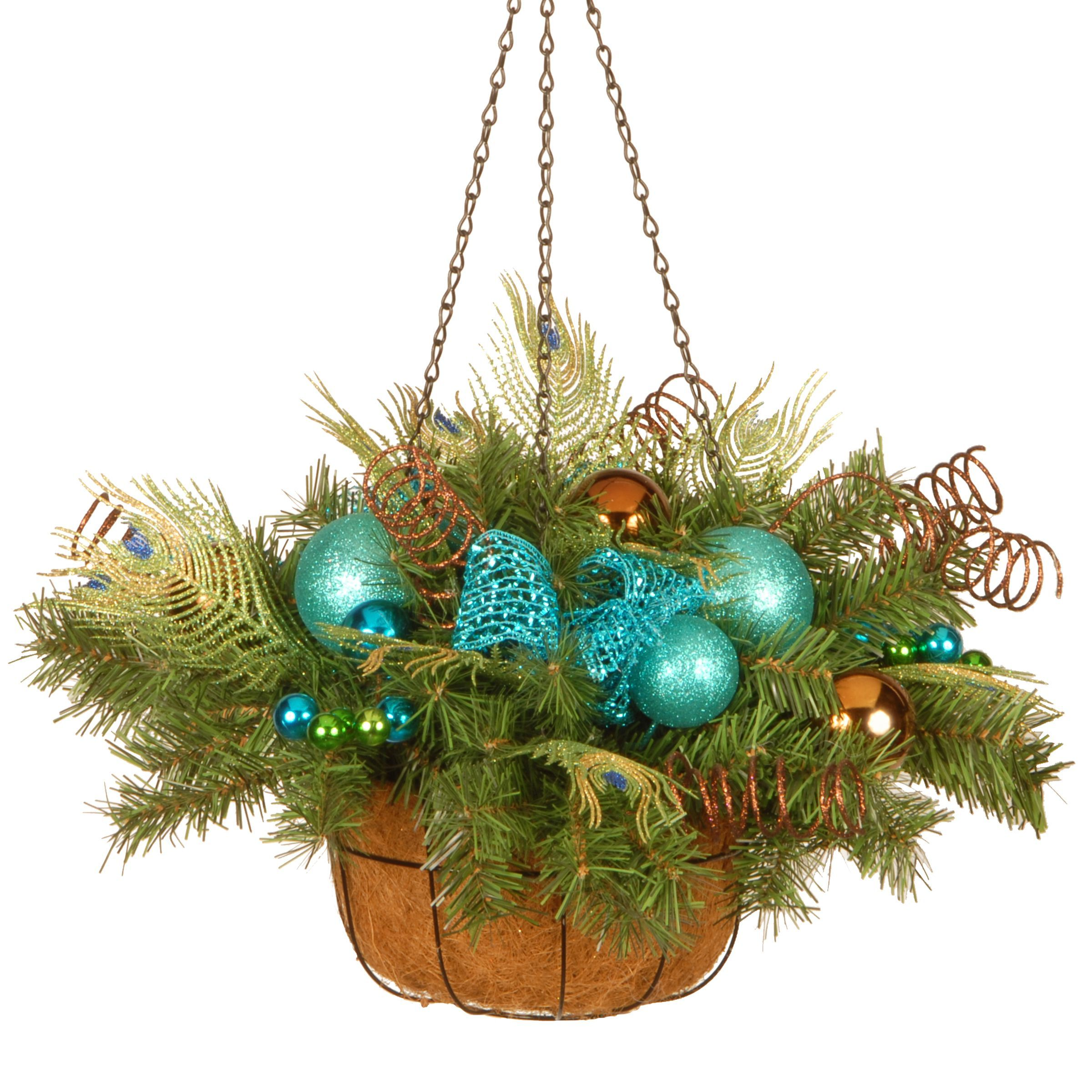 National tree company decorative collection peacock hanging