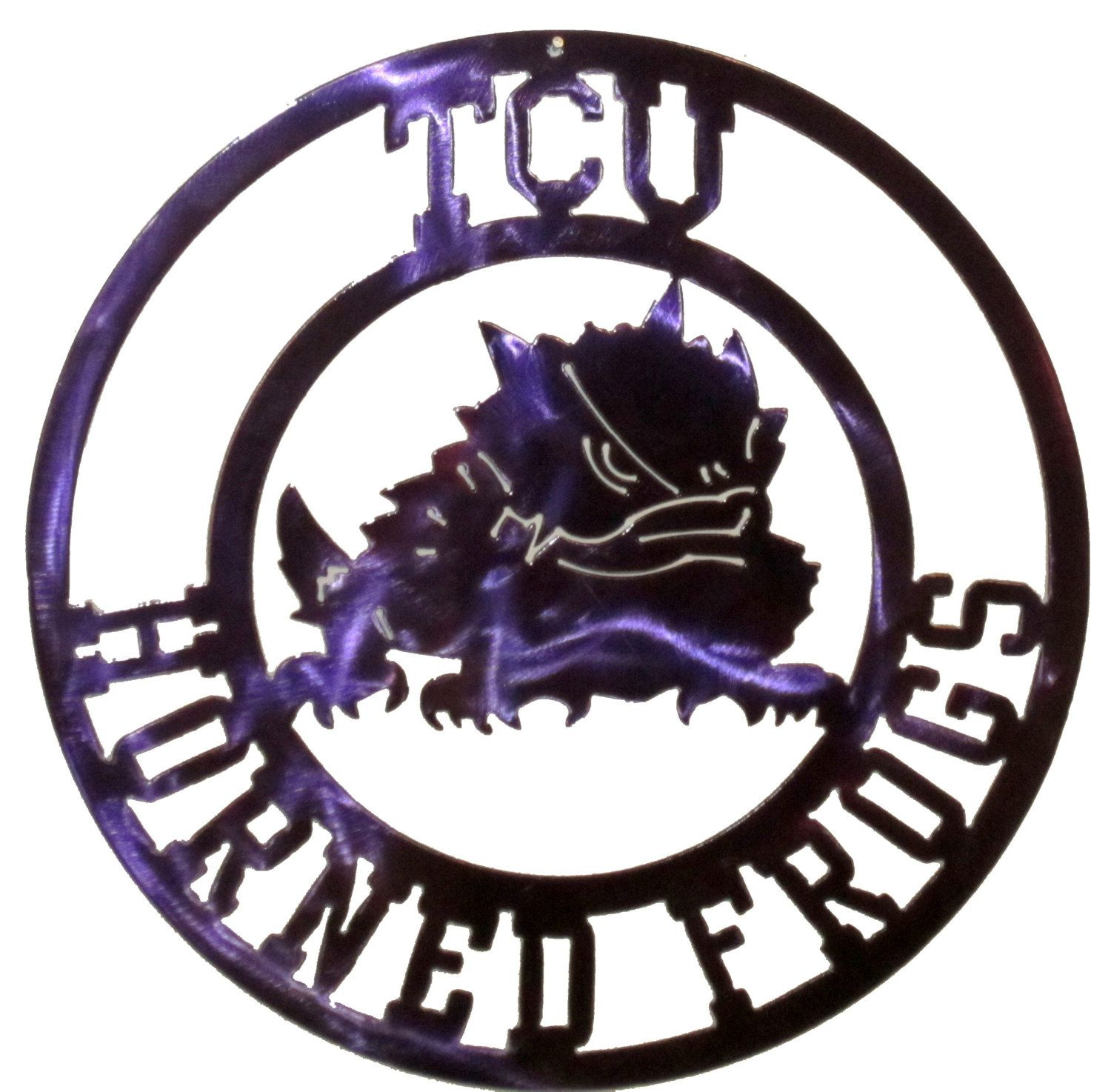 T C U Horned Frogs Metal Art Texas Christian University In 2020 Horned Frogs Texas Christian University Metal Art