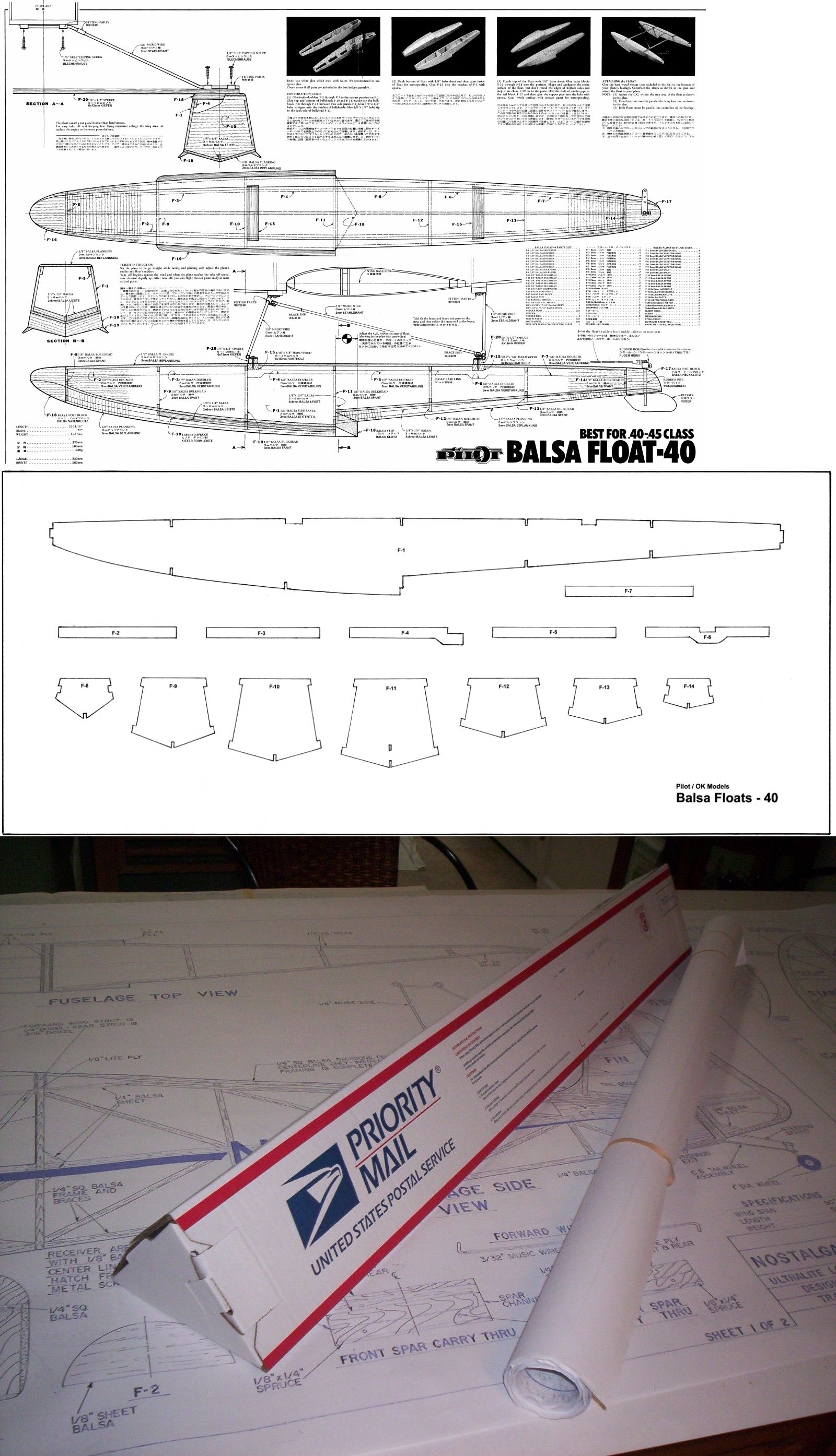 RC Plans Templates and Manuals 182212: 40 Size Floats Rc