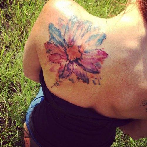 3a86a9c8a watercolor+flower+tattoos   Watercolor tattoos   Tattoomagz.com › Tattoo  Designs / Ink-Works .