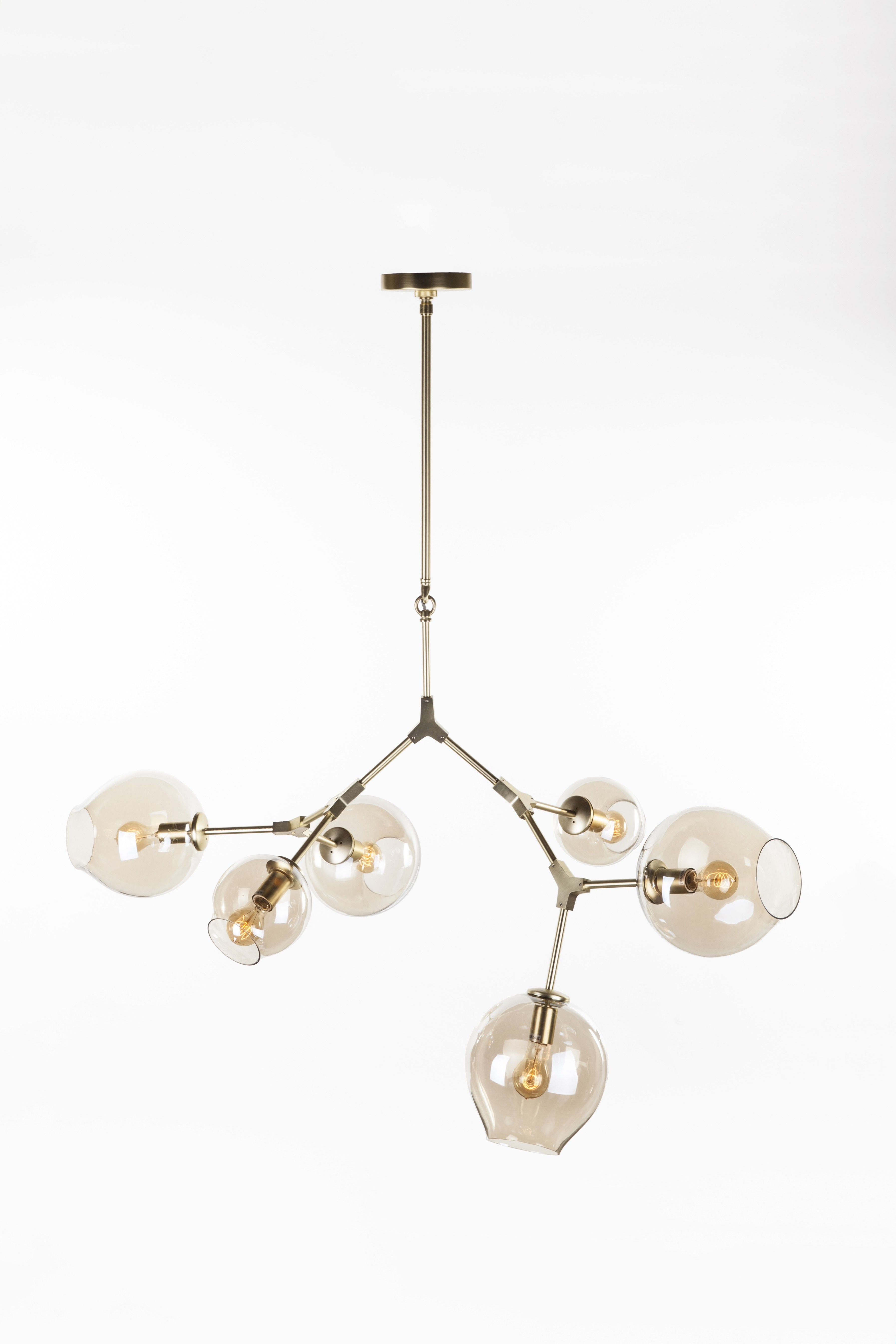 Six Globe Stige Ceiling Lamp Gold The Country Club