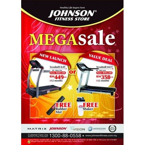 Johnson Fitness Mega Sale