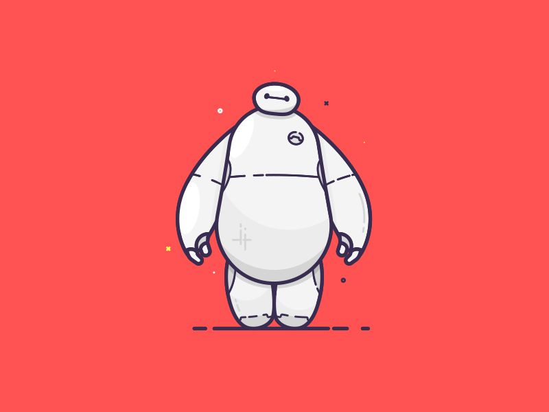 Hello. I am Baymax your personal healthcare companion. by Sam Bate #Design Popular #Dribbble #shots