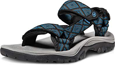 ATIKA Mens Outdoor Hiking Sandals Lightweight Athletic Trail Sport Sandals Open Toe Arch Support Strap Water Sandals