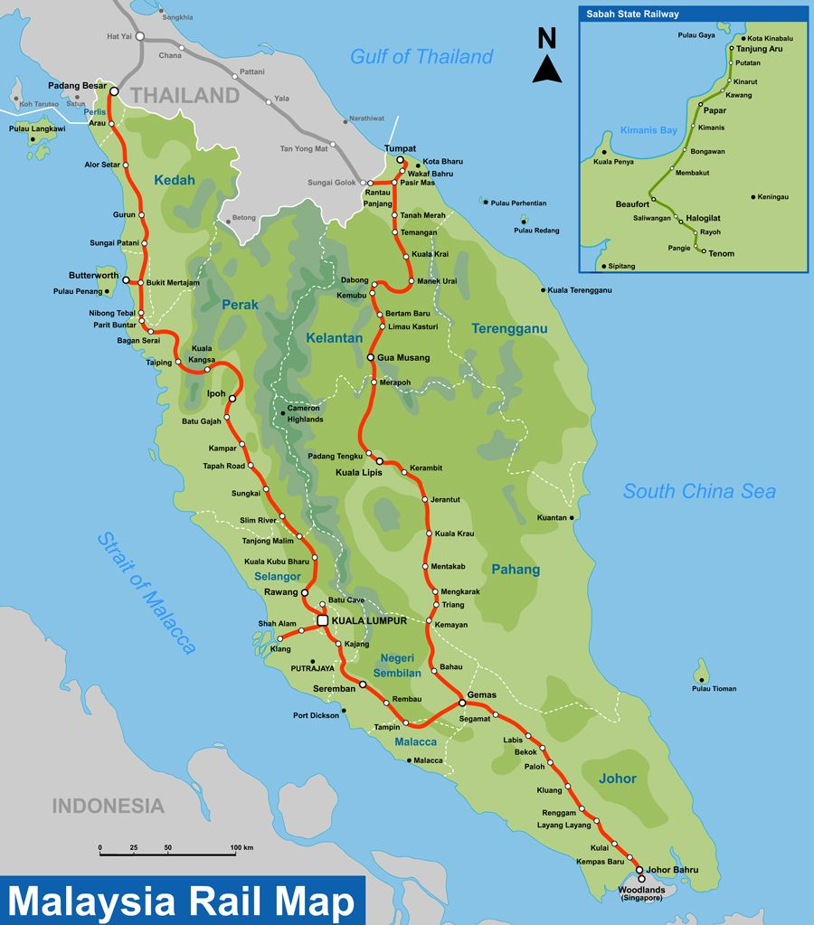 Malaysia: KTM: THE 620km East Coast Rail Route (ECRR