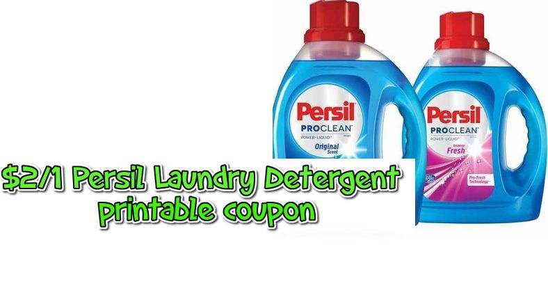 2 1 Persil Laundry Detergent Printable Coupon Target Deal