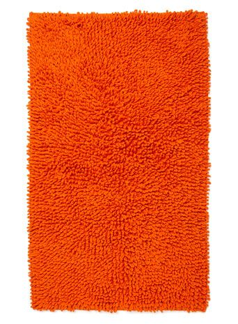 Bright Orange Cotton Loop Bath Mat Bhs