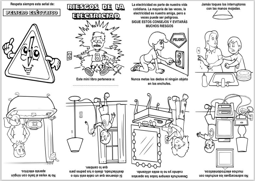 Los Riesgos De La Electricidad Actividades Lúdicas Educativas La Electricidad Para Niños El Cuerpo Preescolar Mini Libros