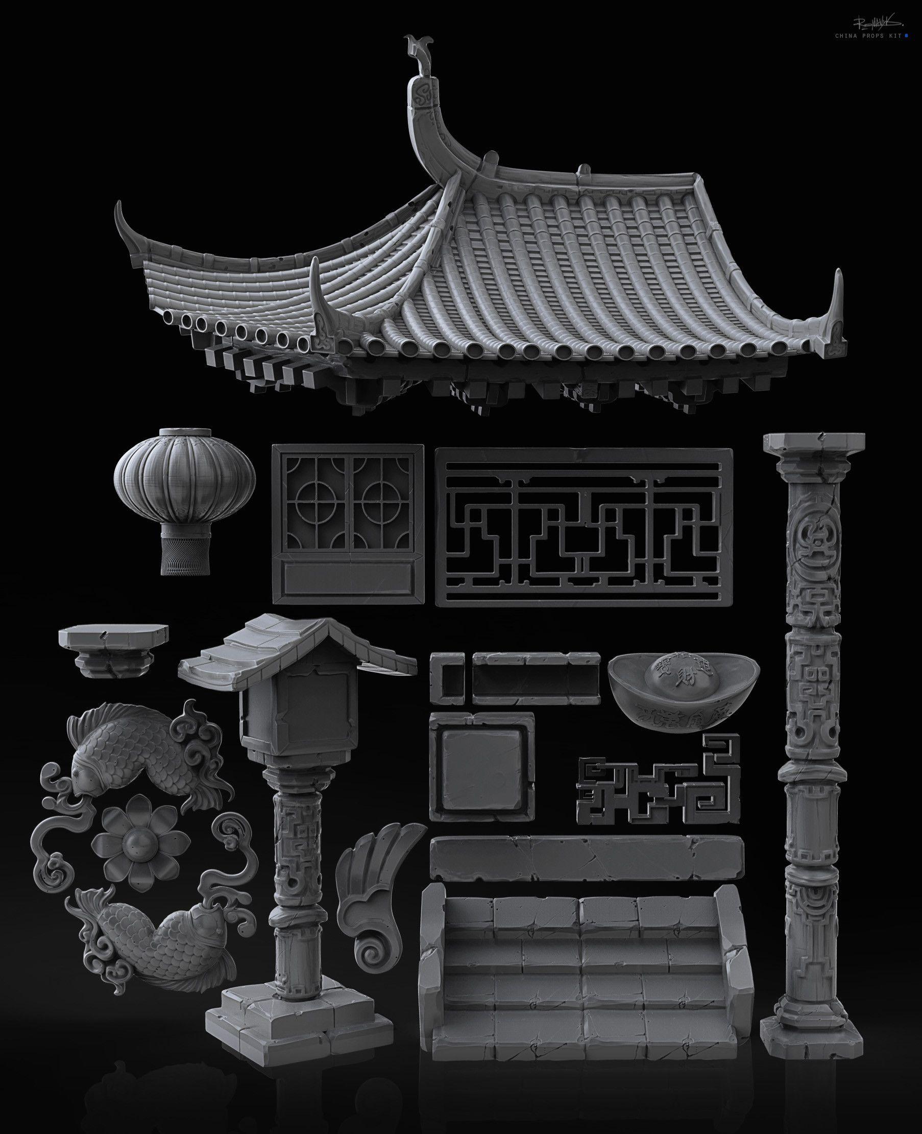 ArtStation - Chinese pack, YURIY ROMANYK