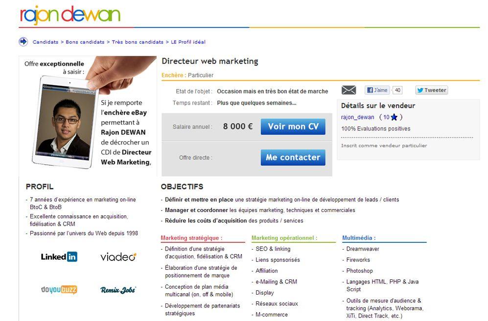 a vos ench u00e8res pour remporter un directeur web marketing