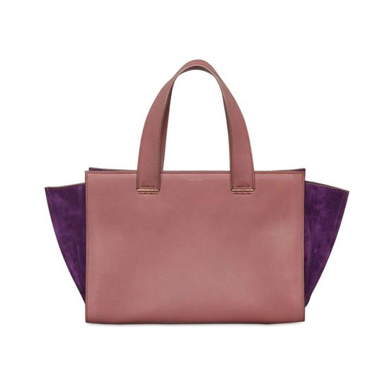 rose purple tote bag from Giorgio Armani