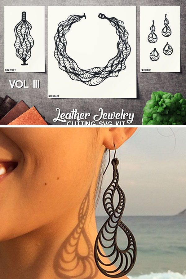 Photo of Leather Jewelry Cutting Template VOL 3 – SVG CUT FILES By SharpSVG   TheHungryJPEG.com