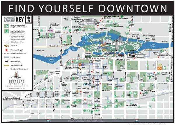 Downtown Spokane Parking Map About Mobius Science Center Pinterest
