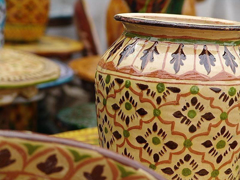 Hand Crafted Pakistani Pottery Pottery Decorative Boxes Handcraft